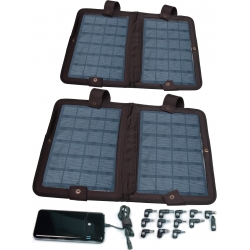 (2) 10 Watt, Laptop Solar Chargers, 8400 mAh Battery & Adapter